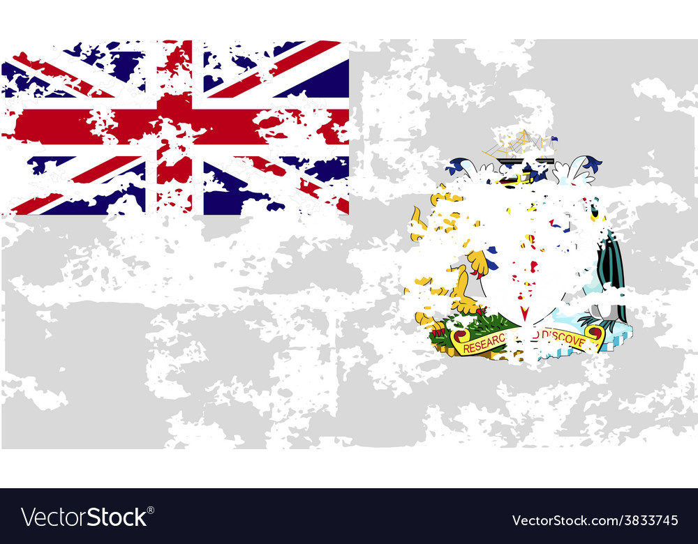 Flag of british antarctic territory with old vector | Price: 1 Credit (USD $1)