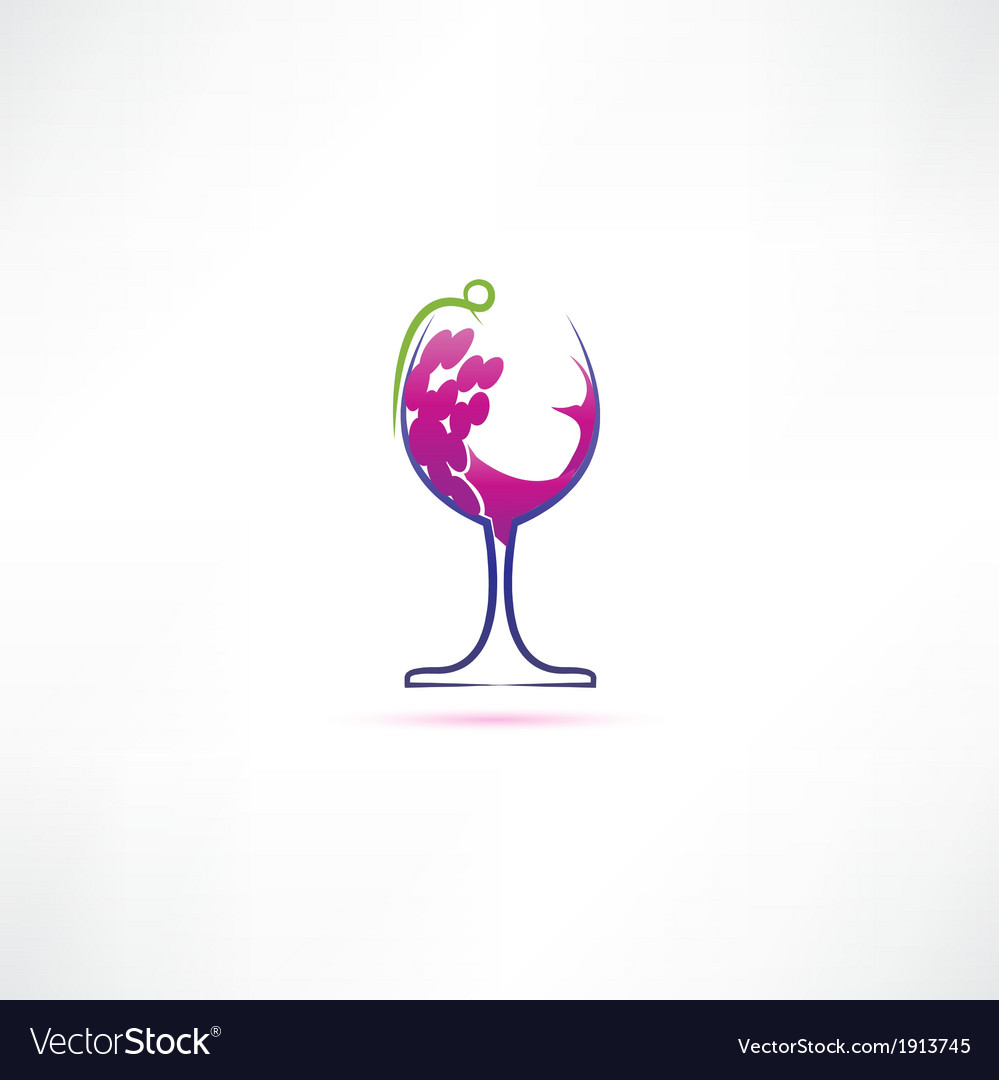 Grape wine icon vector | Price: 1 Credit (USD $1)