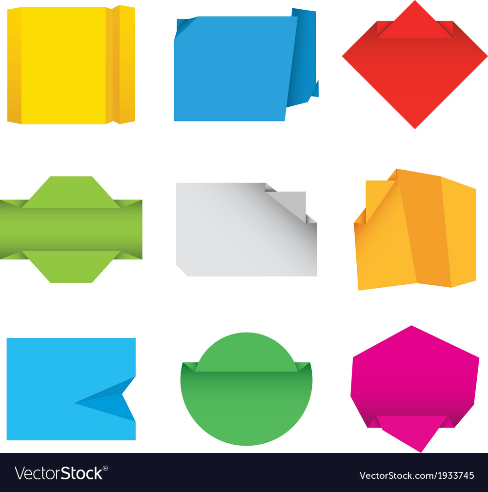 Origami papers vector | Price: 1 Credit (USD $1)