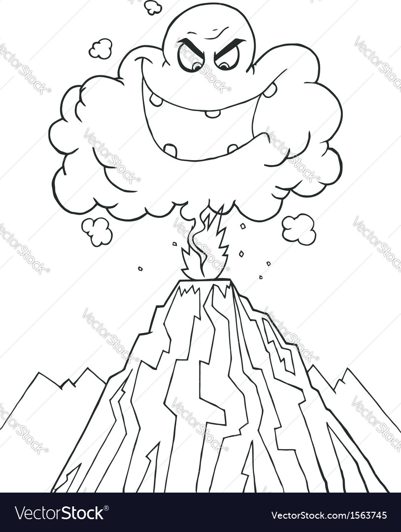 Royalty free rf clipart cartoon erupting of vector   Price: 1 Credit (USD $1)