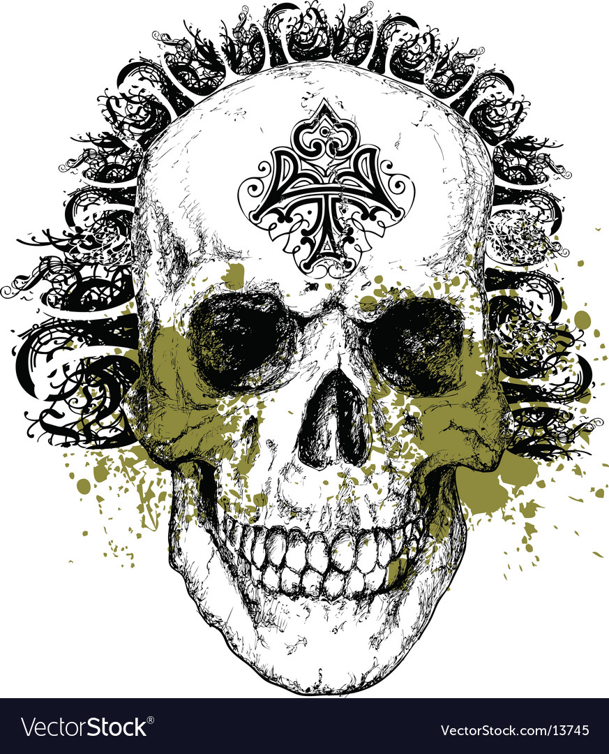 Wicked skull illustration vector | Price: 3 Credit (USD $3)