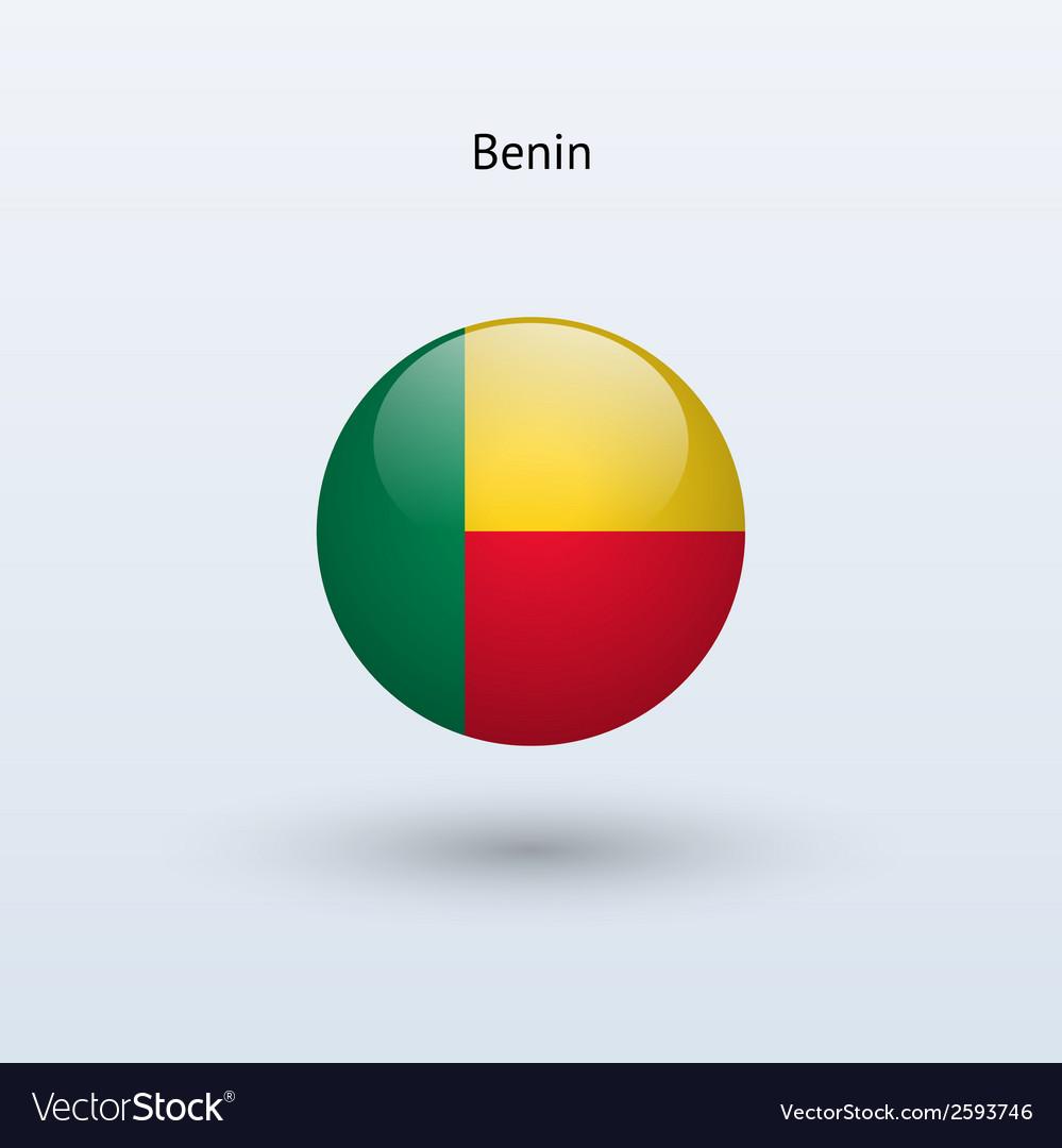 Benin round flag vector   Price: 1 Credit (USD $1)
