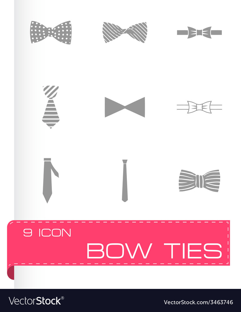 Bow ties icon set vector | Price: 1 Credit (USD $1)