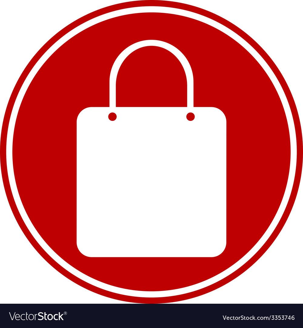 Shopping bag button vector   Price: 1 Credit (USD $1)