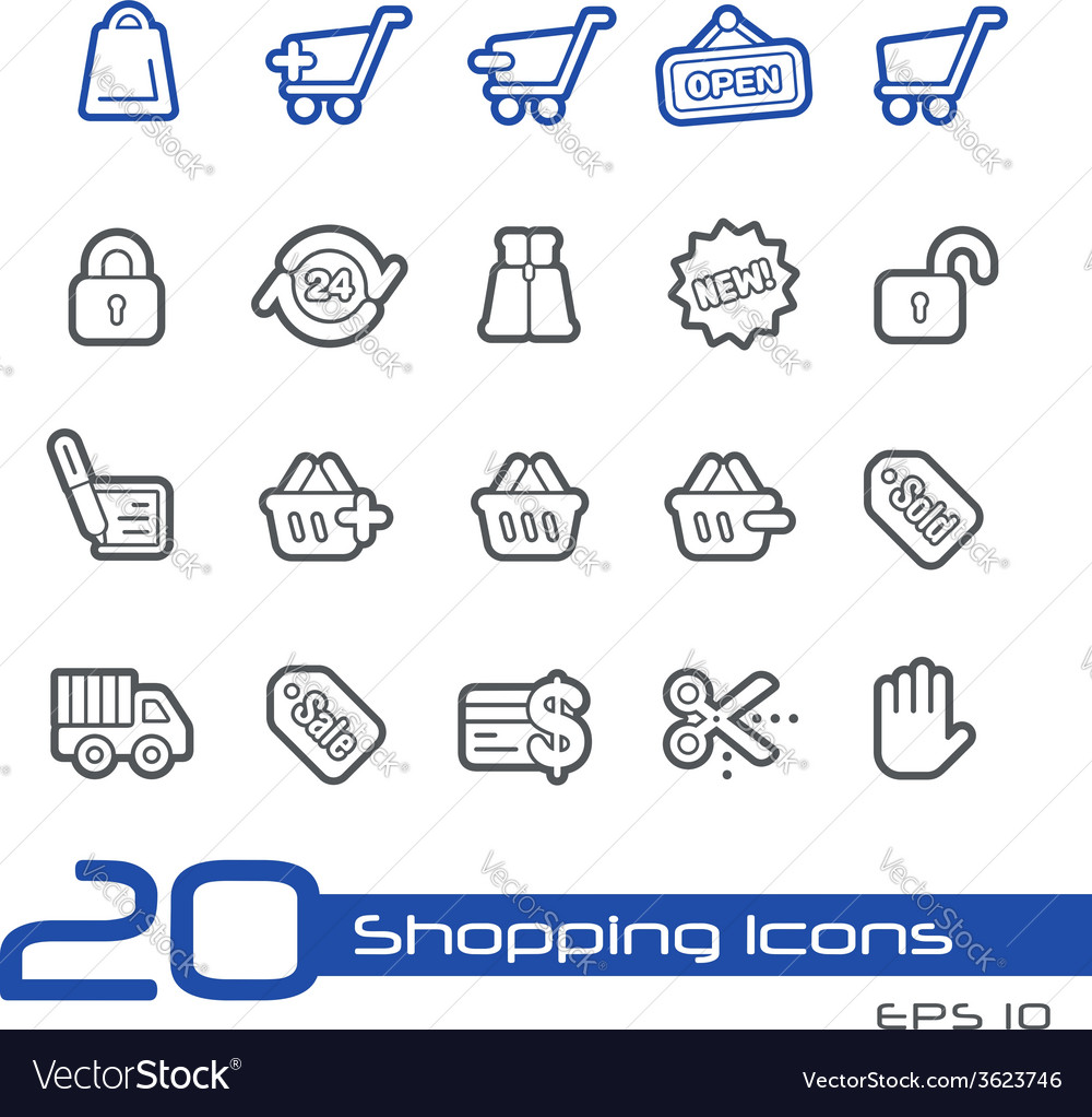 Shopping outline series vector | Price: 1 Credit (USD $1)