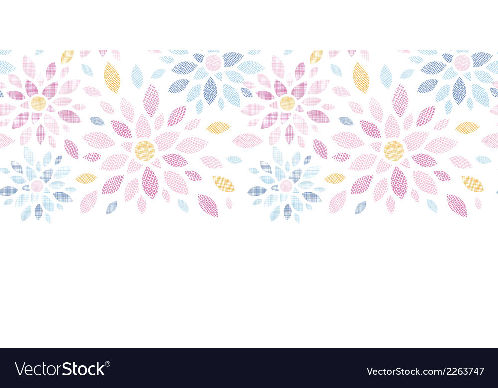 Abstract textile colorful flowers horizontal vector | Price: 1 Credit (USD $1)