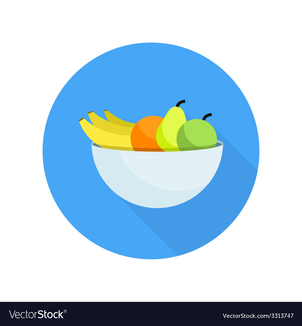 Different fruits in bowl vector | Price: 1 Credit (USD $1)