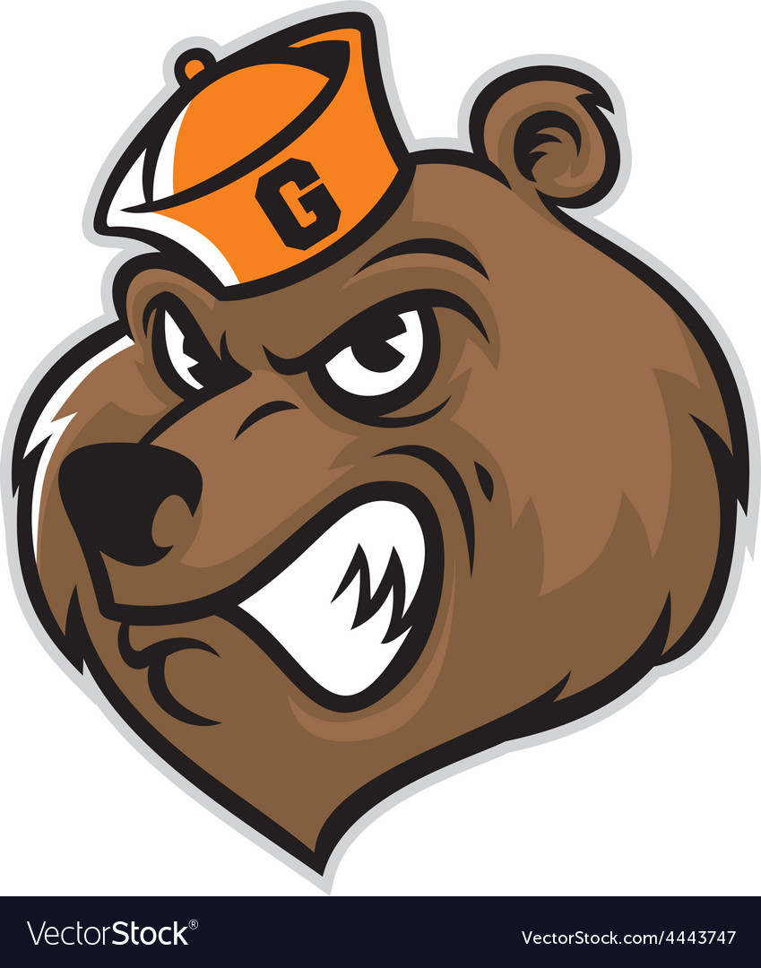 Grizzly bear head mascot vector | Price: 1 Credit (USD $1)
