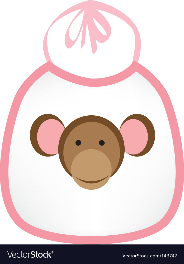 Monkey bib vector | Price: 1 Credit (USD $1)