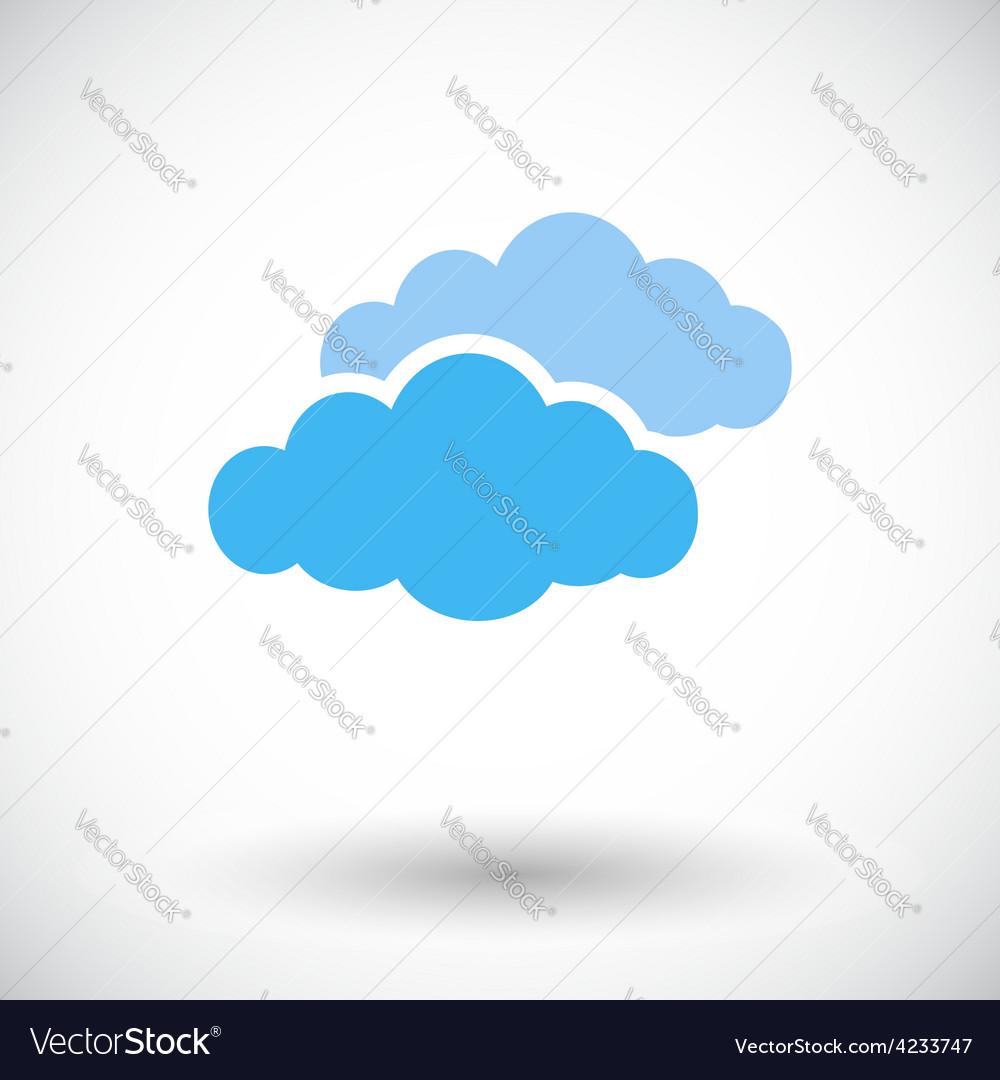 Overcast single flat icon vector | Price: 1 Credit (USD $1)