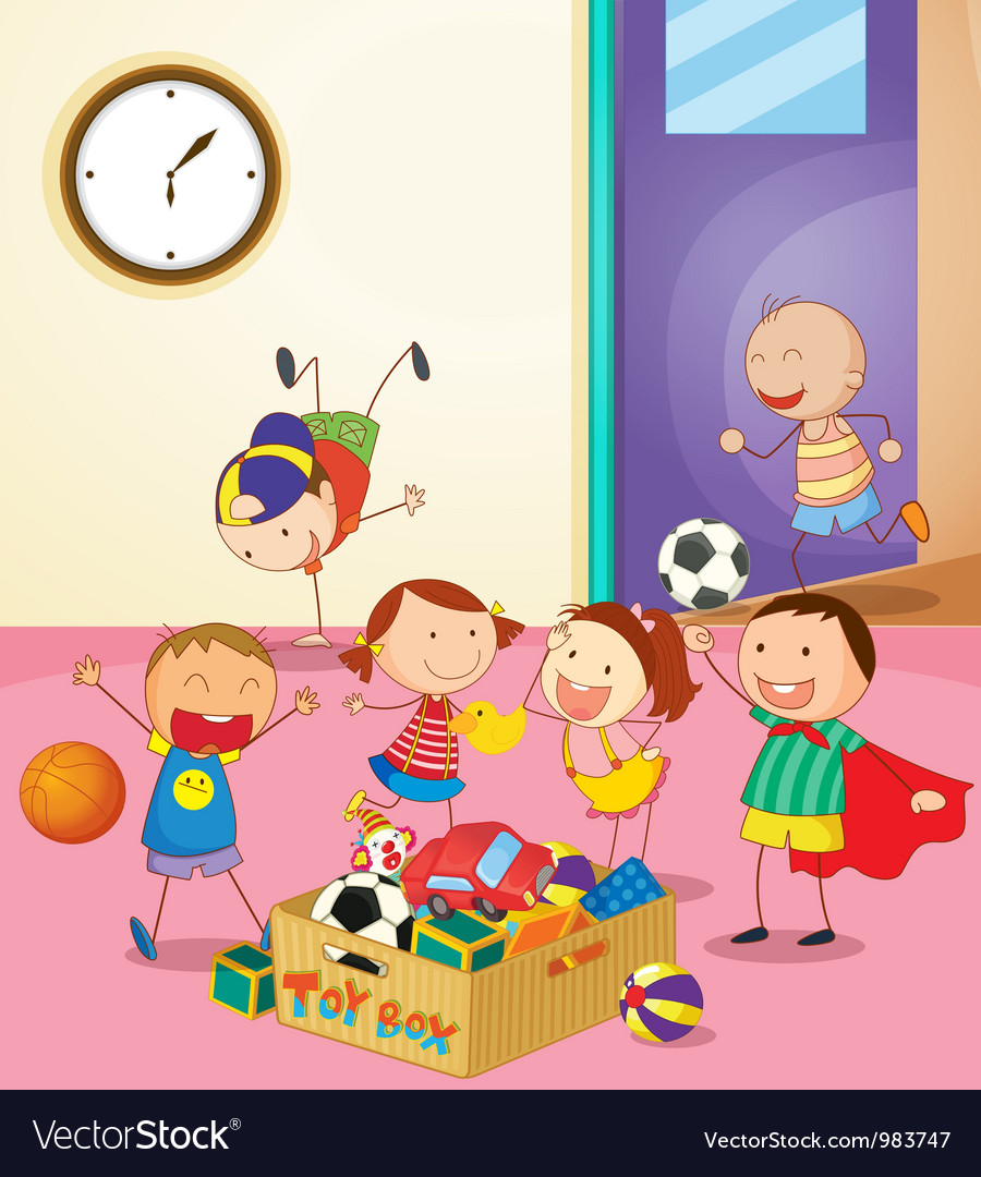 Preschool classroom vector | Price: 3 Credit (USD $3)