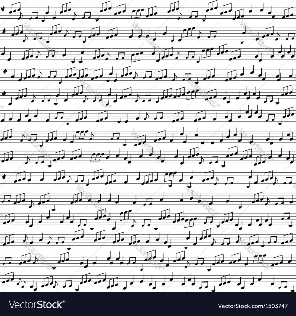 Seamless background with music notes vector | Price: 1 Credit (USD $1)