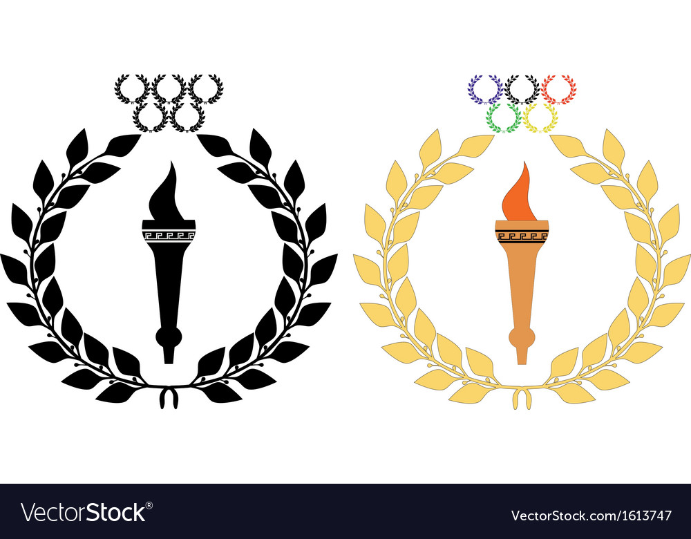 Torch n wreath2 vector | Price: 1 Credit (USD $1)