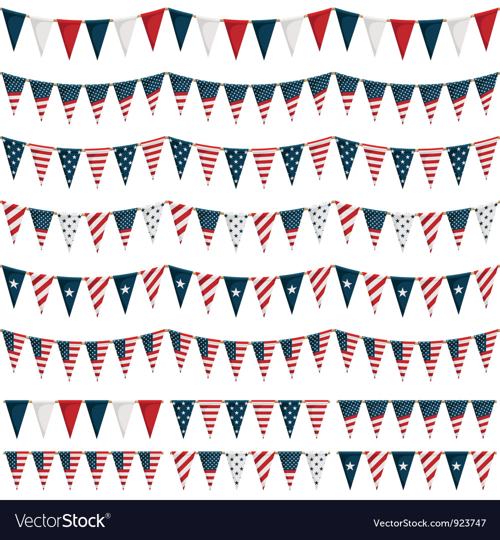 Usa party bunting vector | Price: 1 Credit (USD $1)