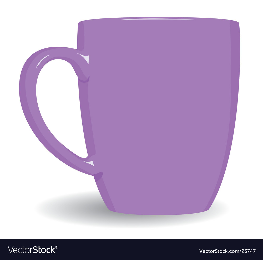Violet mug on white background vector | Price: 1 Credit (USD $1)