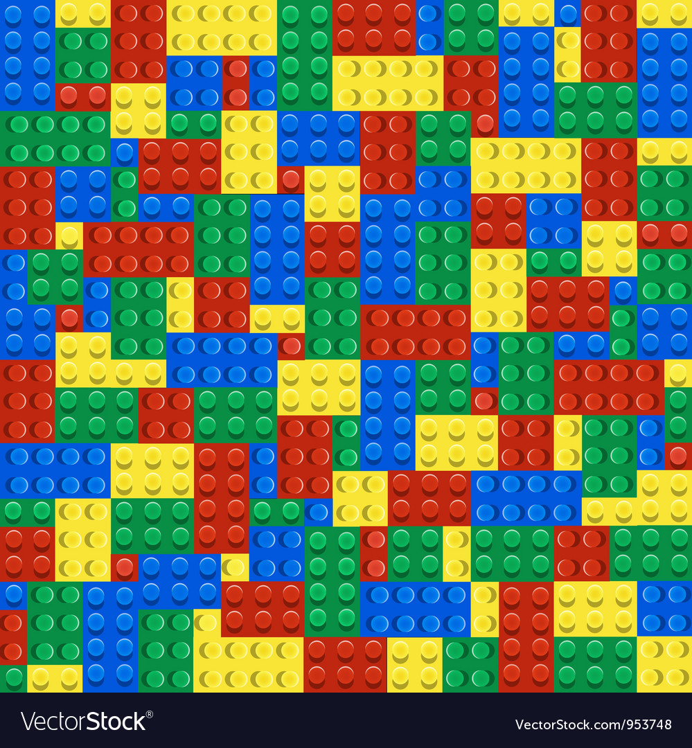 Background of plastic building blocks vector | Price: 1 Credit (USD $1)
