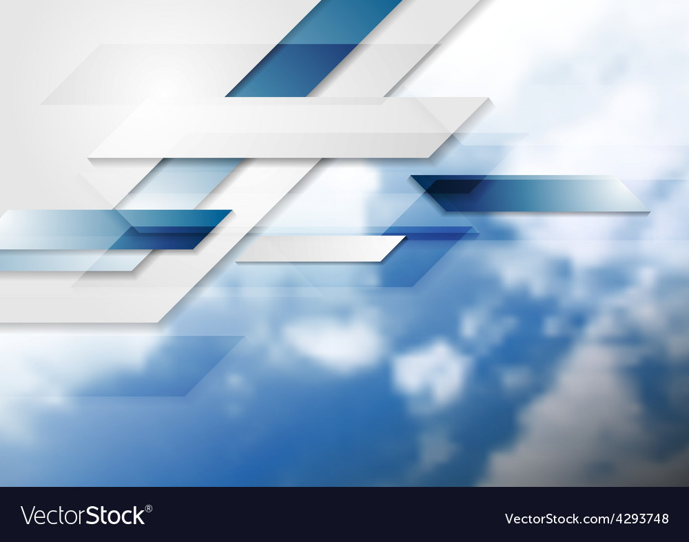 Blue shiny hi-tech background and cloudy sky vector | Price: 1 Credit (USD $1)