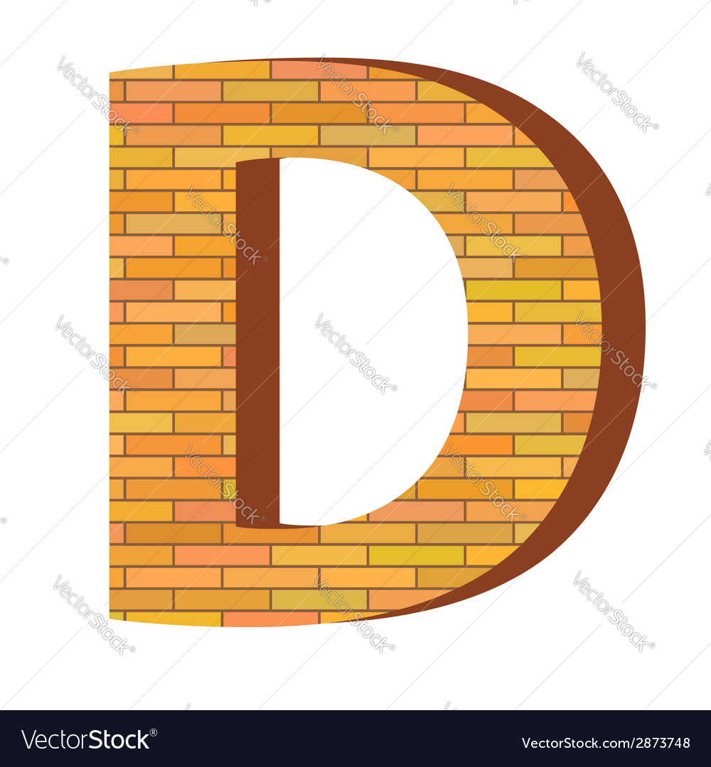 Brick letter d vector | Price: 1 Credit (USD $1)