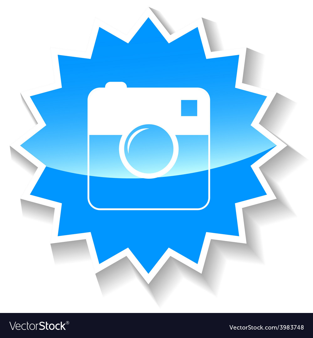 Camera blue icon vector | Price: 1 Credit (USD $1)
