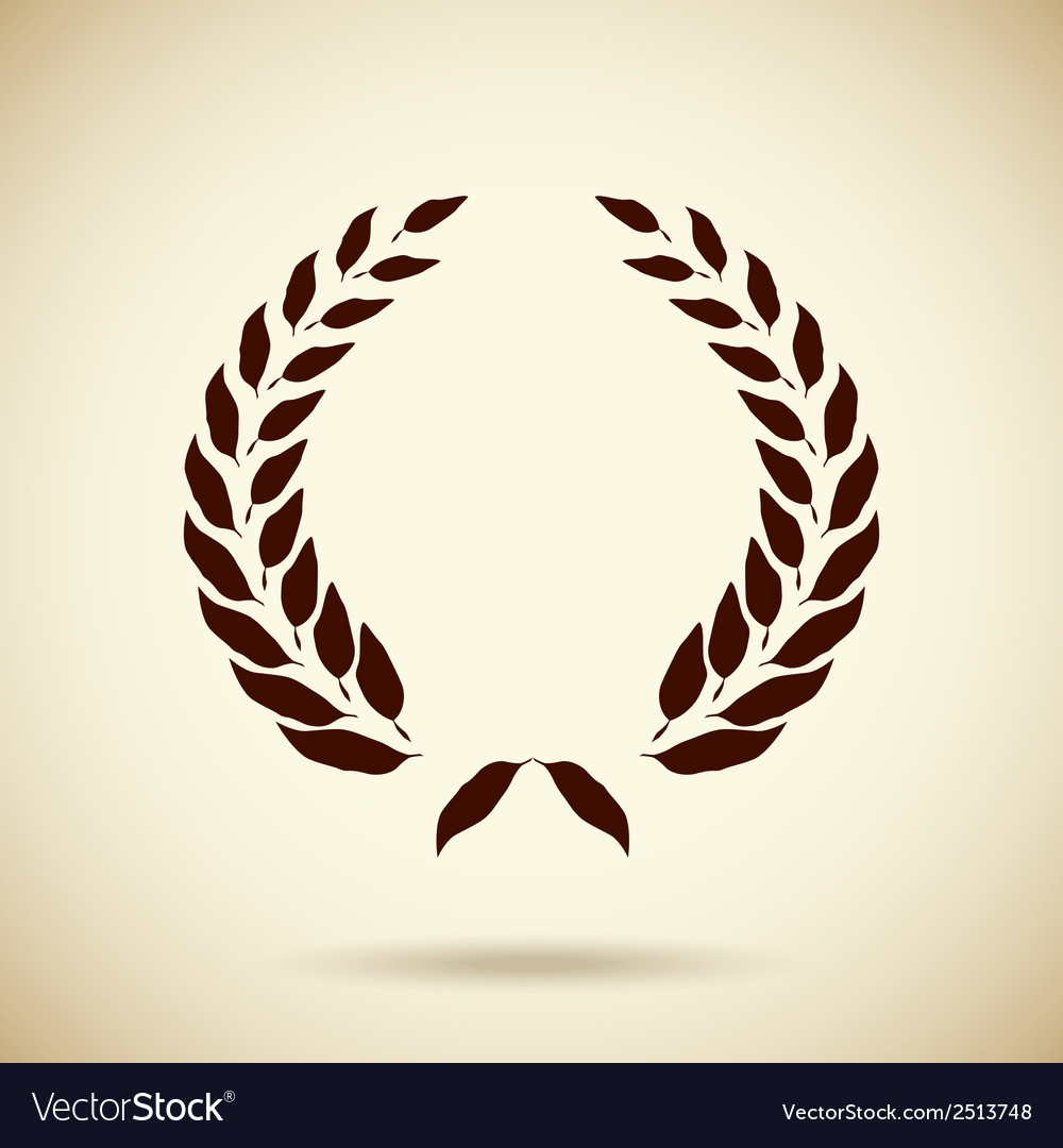 Circular laurel wreath vector | Price: 1 Credit (USD $1)