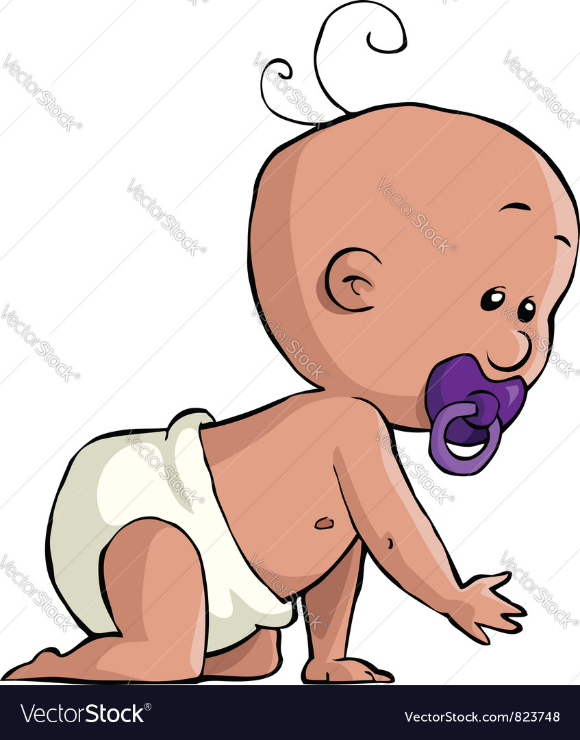 Crawling baby vector | Price: 1 Credit (USD $1)
