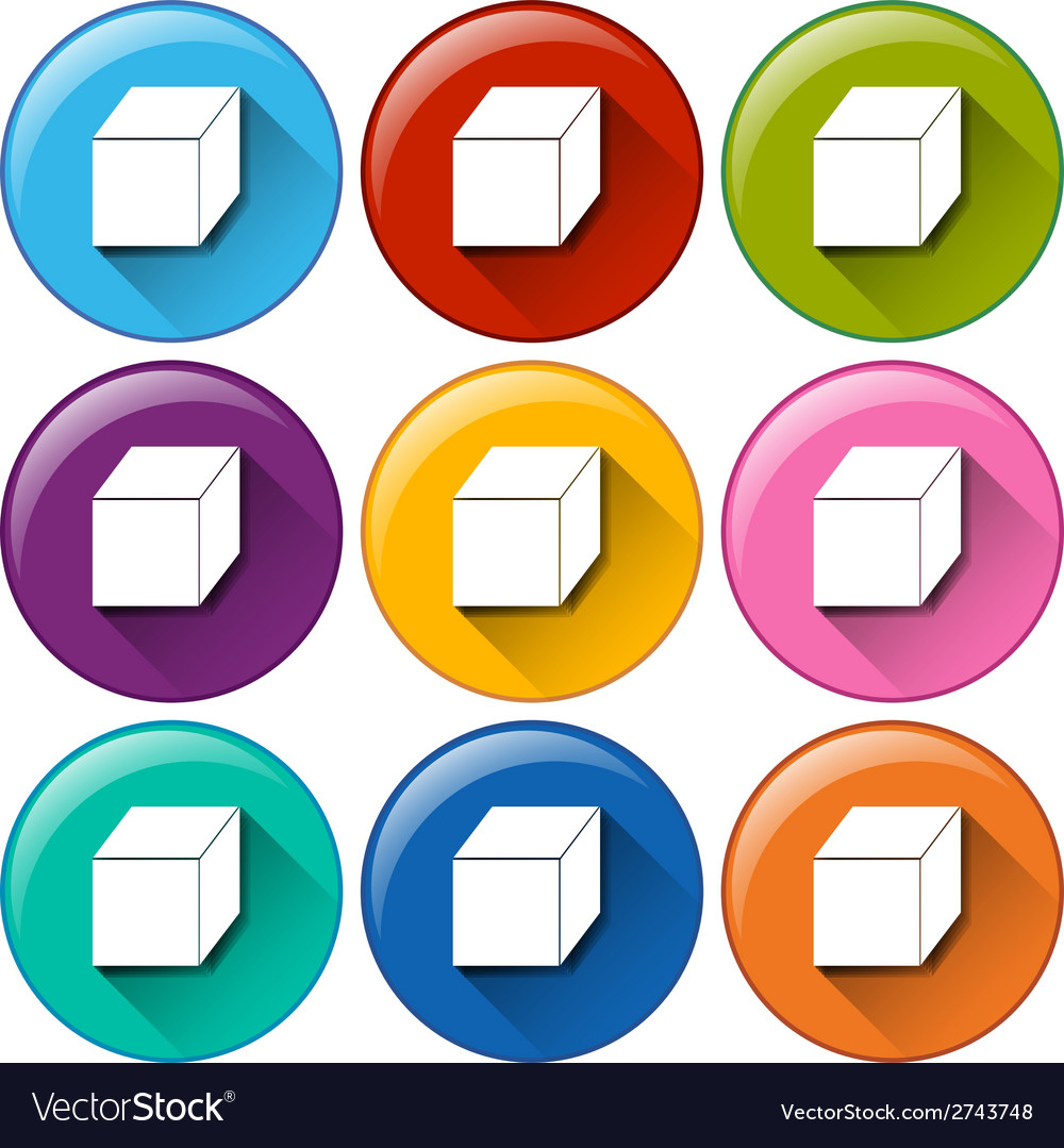 Cube icons vector | Price: 1 Credit (USD $1)