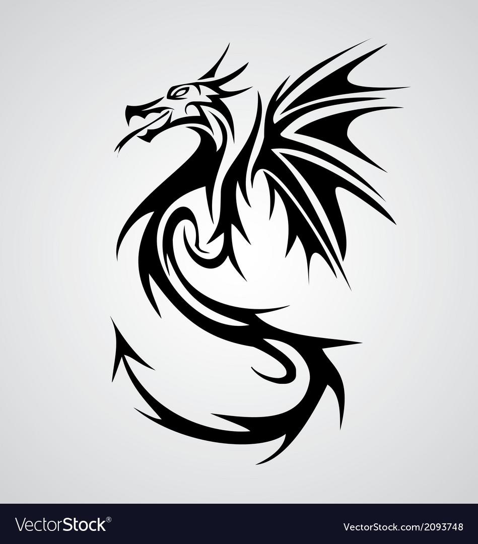 Dragon tribal vector | Price: 1 Credit (USD $1)