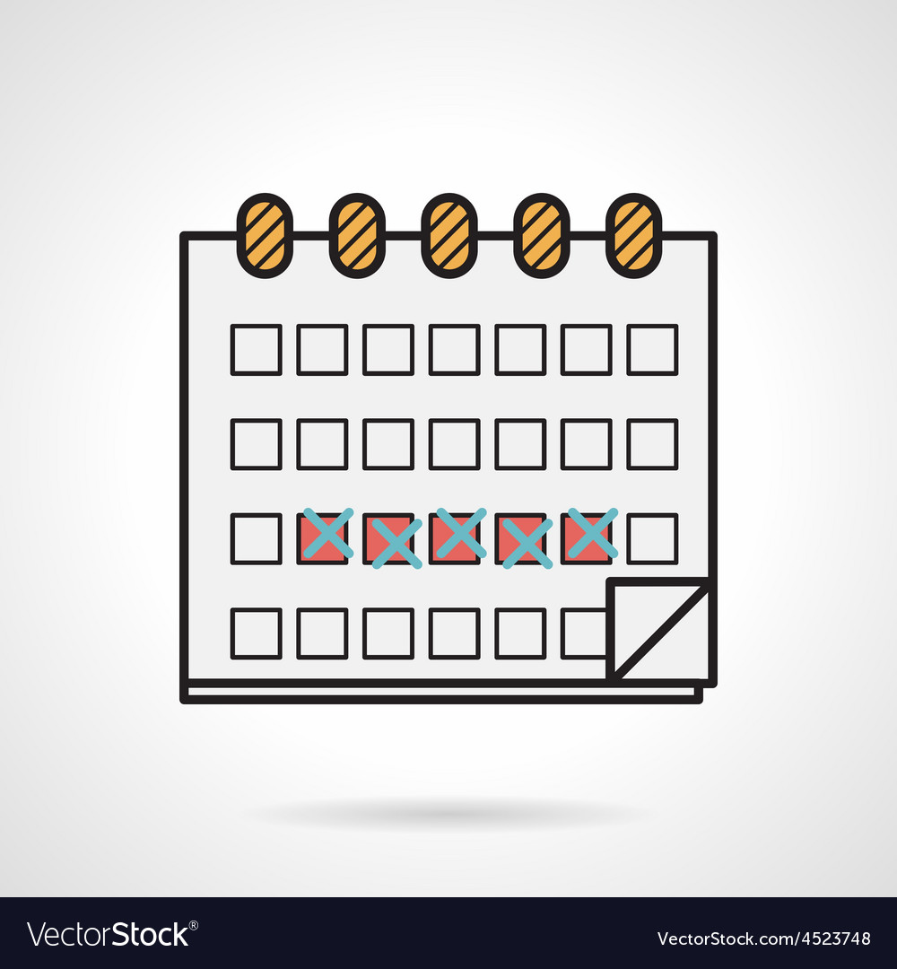 Flat icon for menstrual calendar vector | Price: 1 Credit (USD $1)