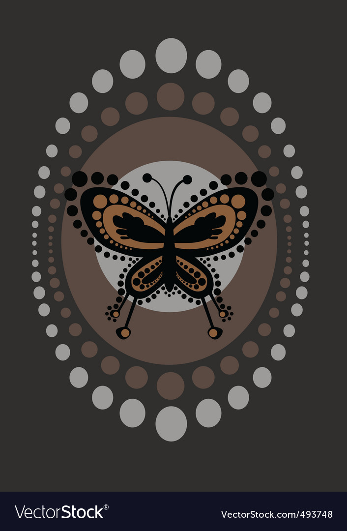 Funky butterfly vector | Price: 1 Credit (USD $1)