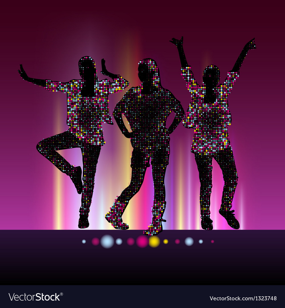 Go-go night party background vector | Price: 1 Credit (USD $1)