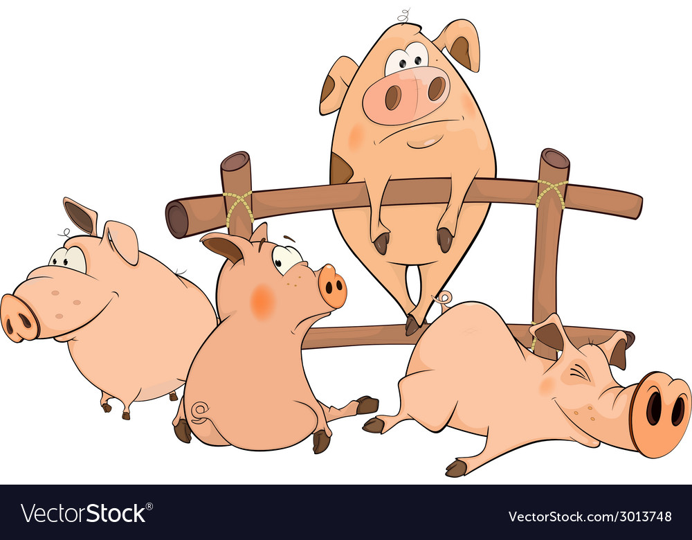 Little pigs vector | Price: 1 Credit (USD $1)