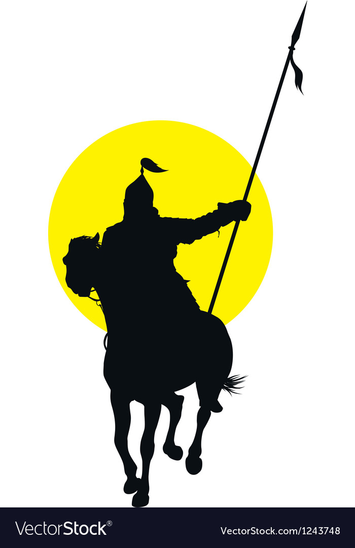 Oriental horseman vector | Price: 1 Credit (USD $1)