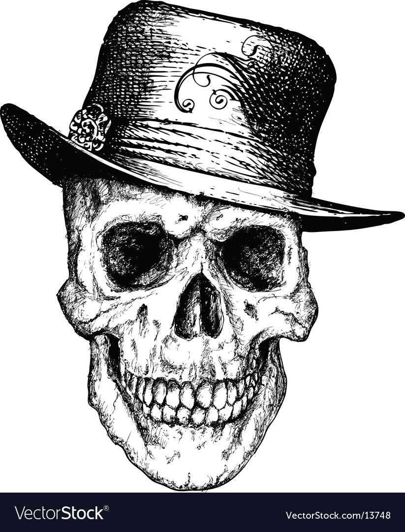 Pimp skull illustration vector | Price: 3 Credit (USD $3)
