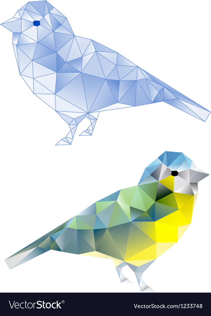 Polybirdbirds with geometric pattern vector | Price: 1 Credit (USD $1)