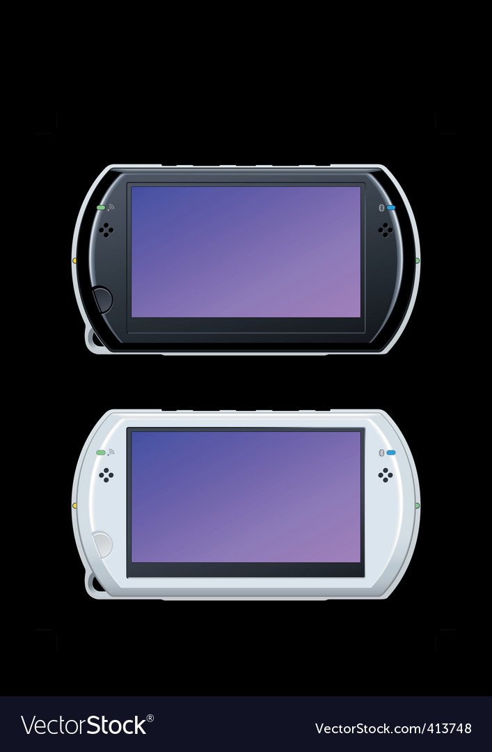 Portable video game console vector | Price: 1 Credit (USD $1)