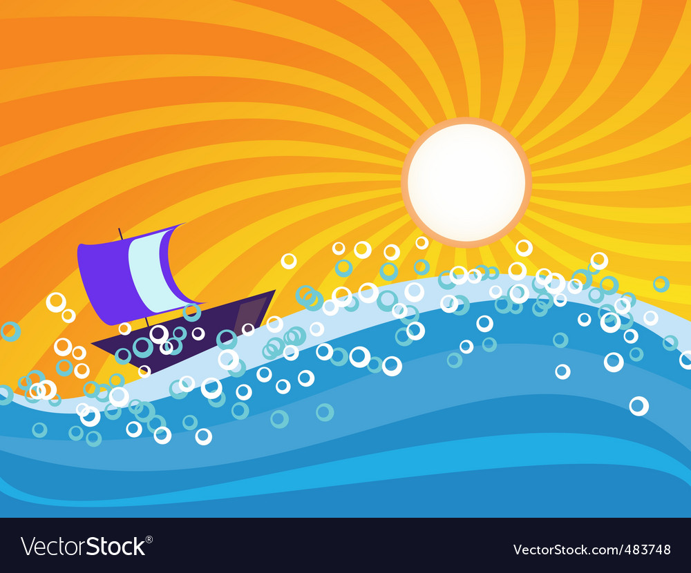 Sea wave vector | Price: 1 Credit (USD $1)