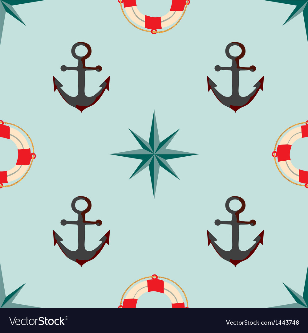 Seamless texture the maritime theme vector | Price: 1 Credit (USD $1)