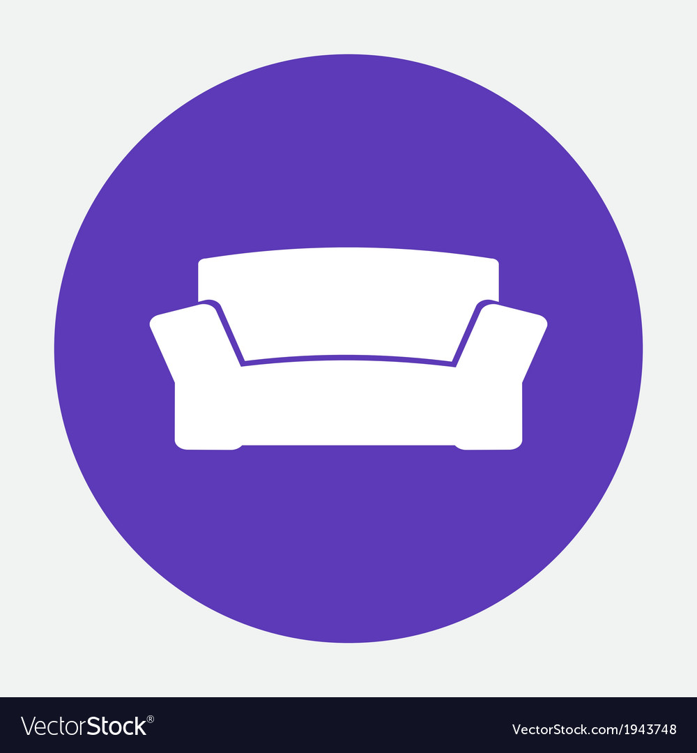 Sofa icon vector | Price: 1 Credit (USD $1)