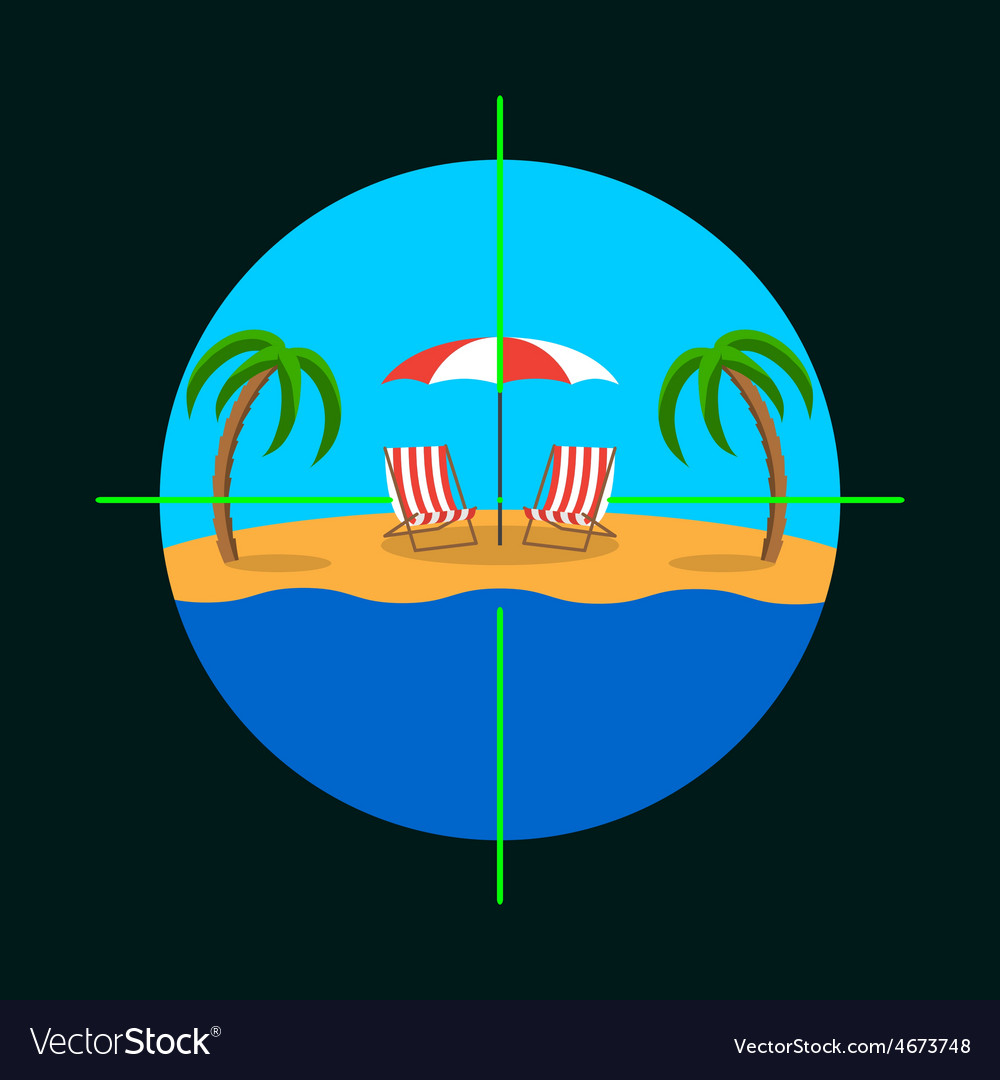 Summer vacation target vector | Price: 1 Credit (USD $1)