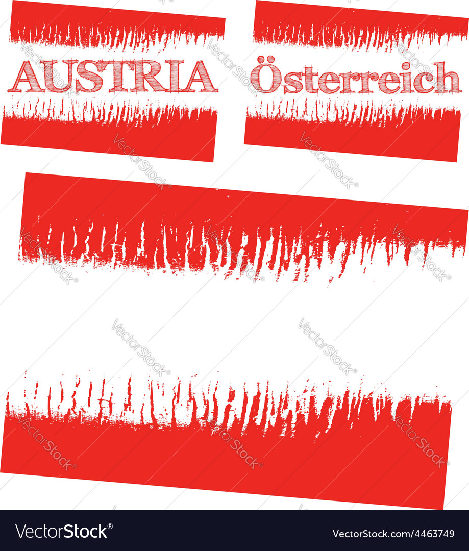 Abstract flag of austria vector | Price: 1 Credit (USD $1)