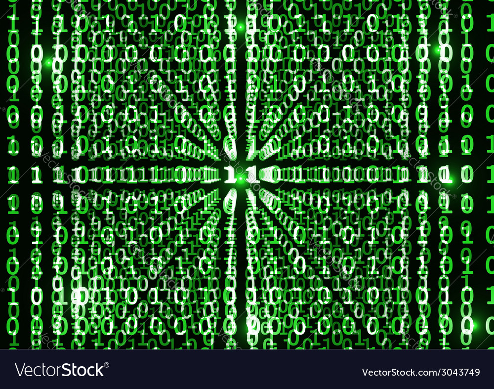 Binary code in abstract background vector | Price: 1 Credit (USD $1)