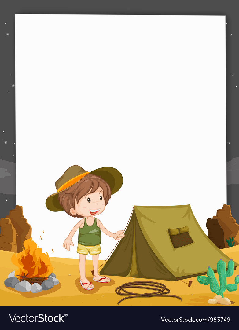 Camping border vector | Price: 3 Credit (USD $3)