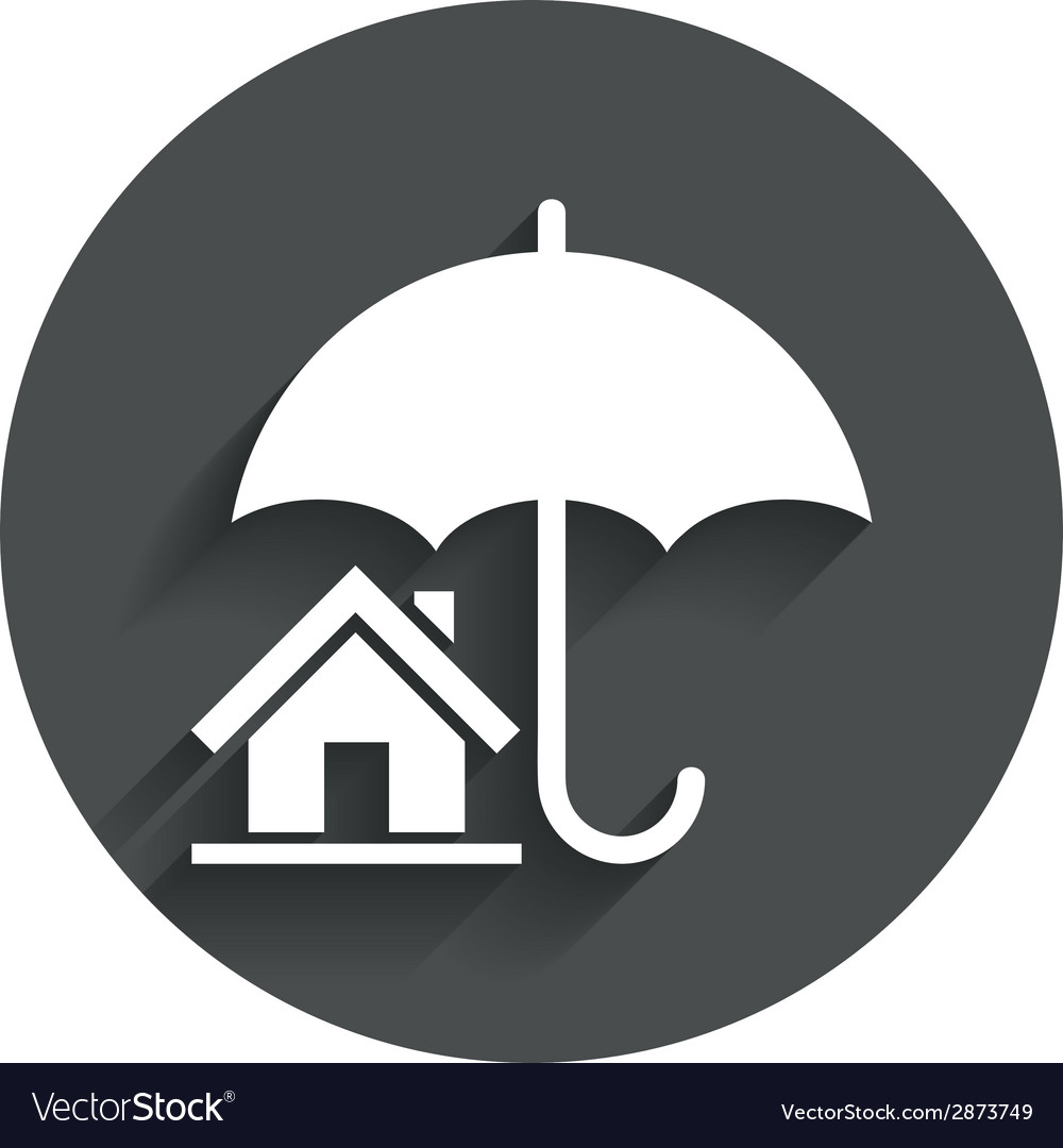 Home insurance sign icon real estate insurance vector | Price: 1 Credit (USD $1)