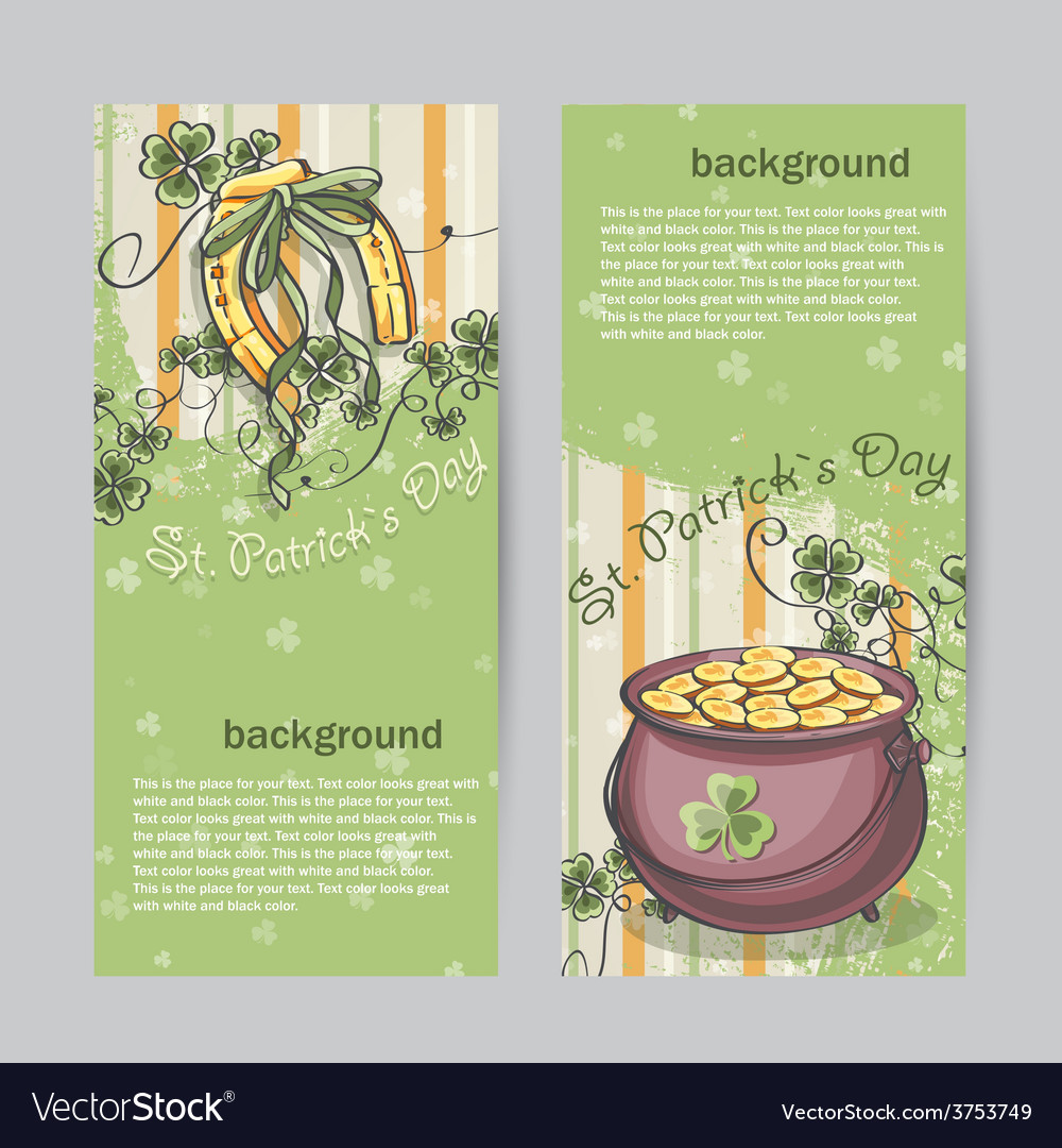 Set of vertical banners for st patricks day with vector | Price: 1 Credit (USD $1)