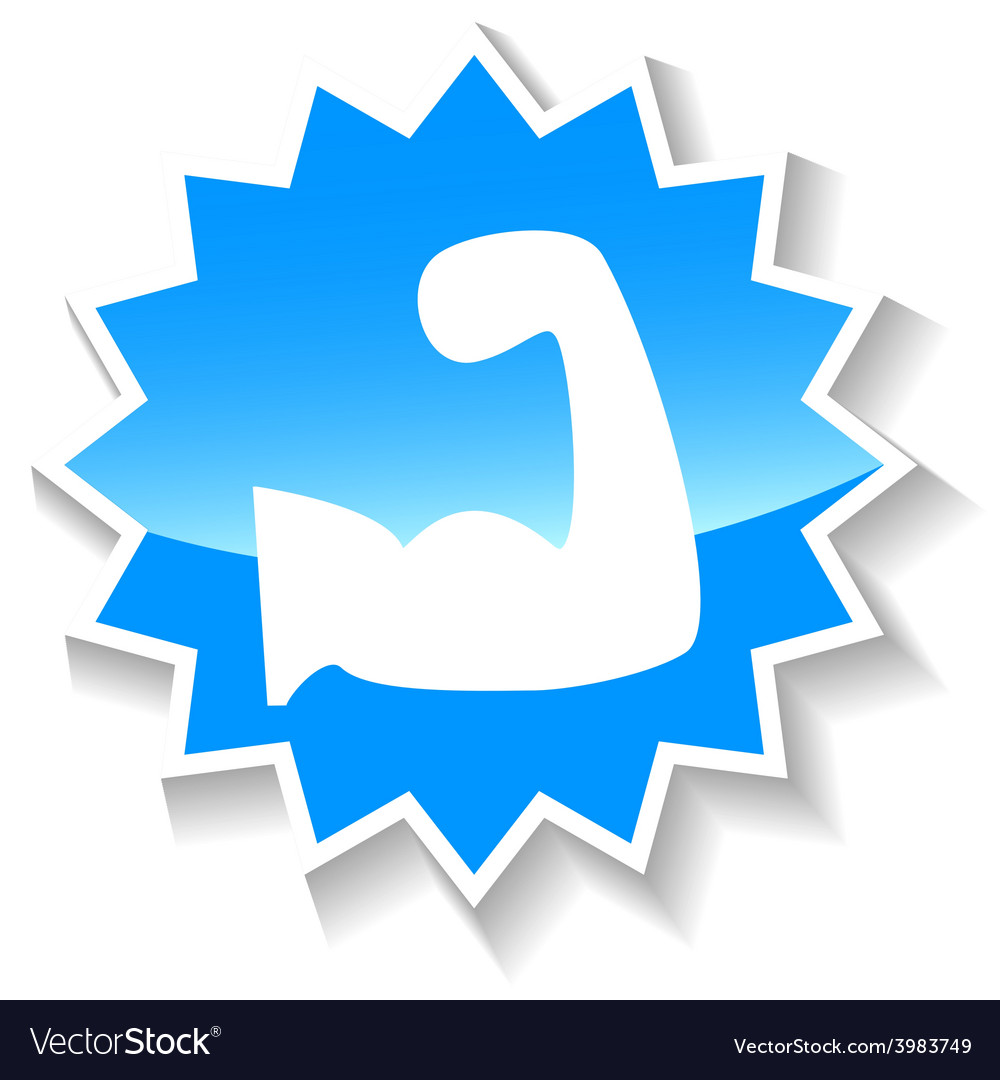 Strength blue icon vector | Price: 1 Credit (USD $1)