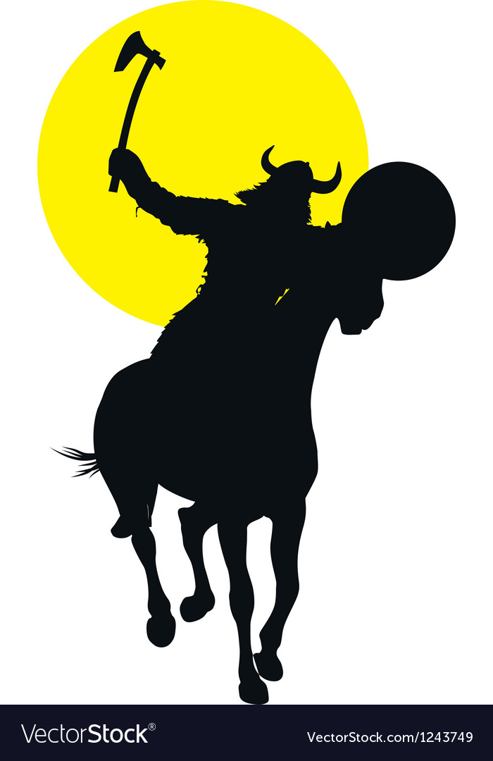 Viking horseman vector | Price: 1 Credit (USD $1)