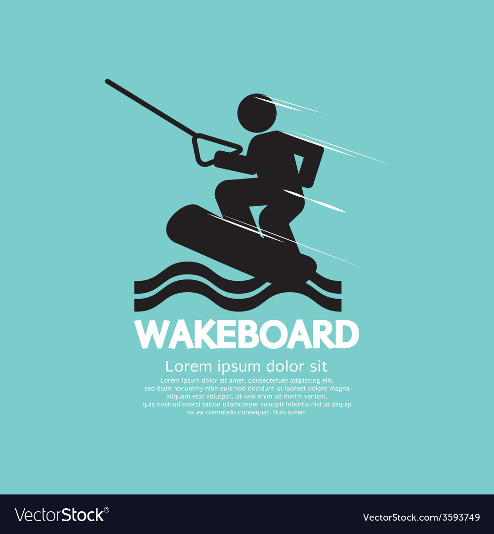 Wakeboard player symbol vector | Price: 1 Credit (USD $1)