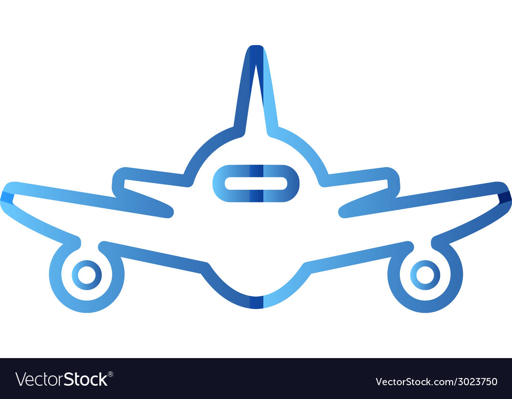 Abstract colorful minimalistic air plane logo vector | Price: 1 Credit (USD $1)
