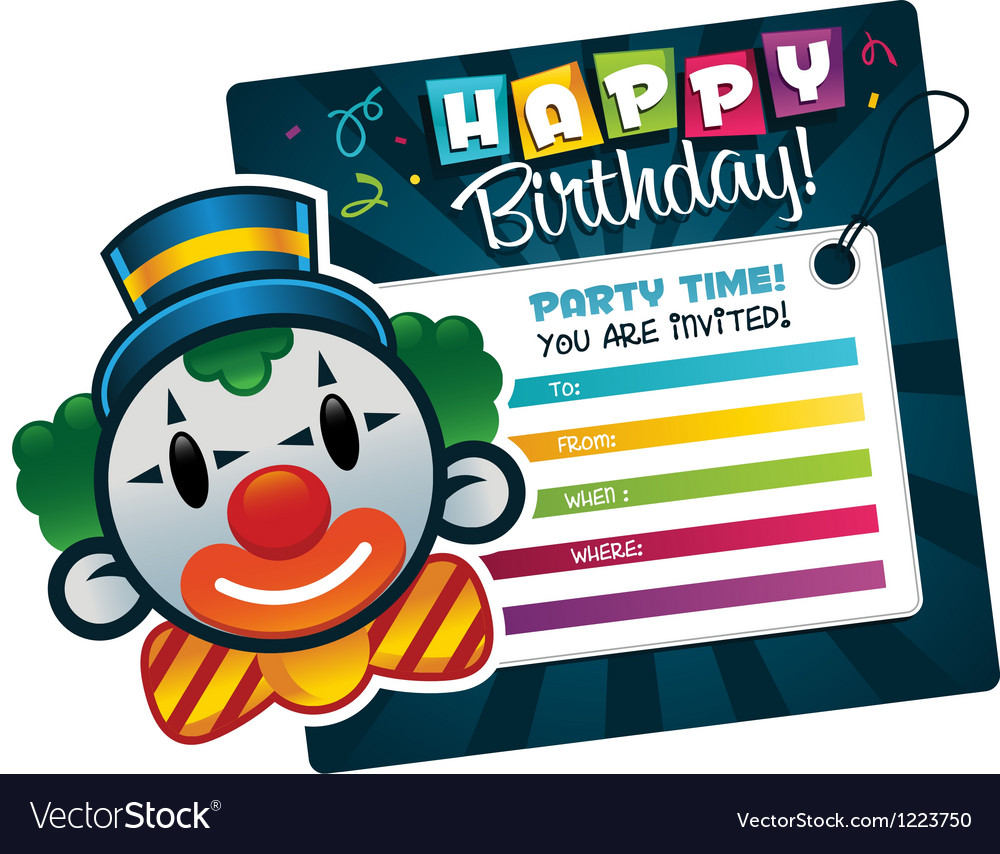 Birthday party invitation vector | Price: 3 Credit (USD $3)