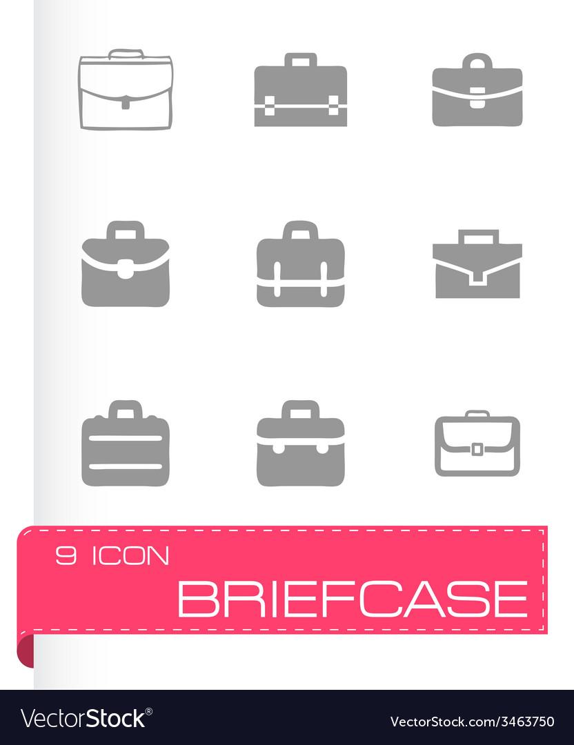 Briefcase icon set vector   Price: 1 Credit (USD $1)